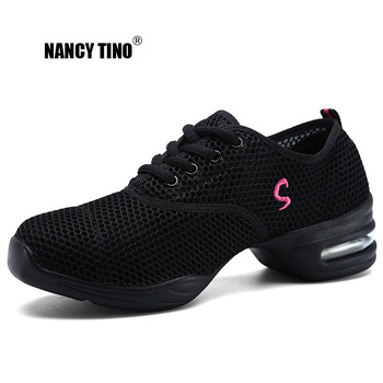 NANCY TINO  Women Dance Shoes Soft Outsole Breathable Sports Shoe Sneakers Ladies Jazz Hip Hop Woman Dancing