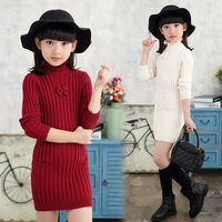 2018 Sping Autumn Girls Long Sweater Girls Princess Sweater Dress Children Clothing Kids Knitwear Clothes Age