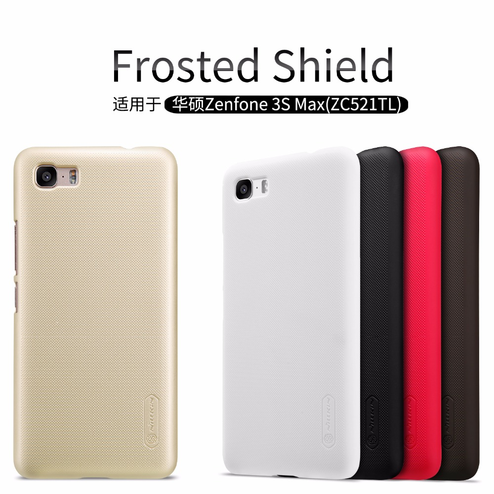 Asus Zenfone 3S Max(ZC521TL) case cover NILLKIN Super Frosted Shield hard matte back cover with free screen protector(China)