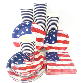 4th of July Independence Day Decorations Disposable Tableware Sets 2020 American Party Supplies