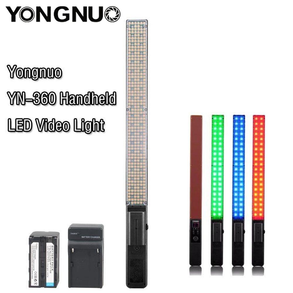 Yongnuo YN360 светодиодный лед на палочке видео ручной светодиодный Фотостудия освещения Би-Цвет 3200 k до 5500 k RGB Цвет Температура