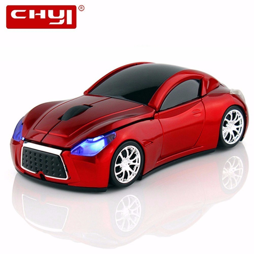 CHYI Computer Mouse Infiniti Sports Car Wireless Mouse Cool Optical 2.4GHz Gamer Gaming Hot Sale 1600 DPI մկներ Mac PC նոութբուքի համար
