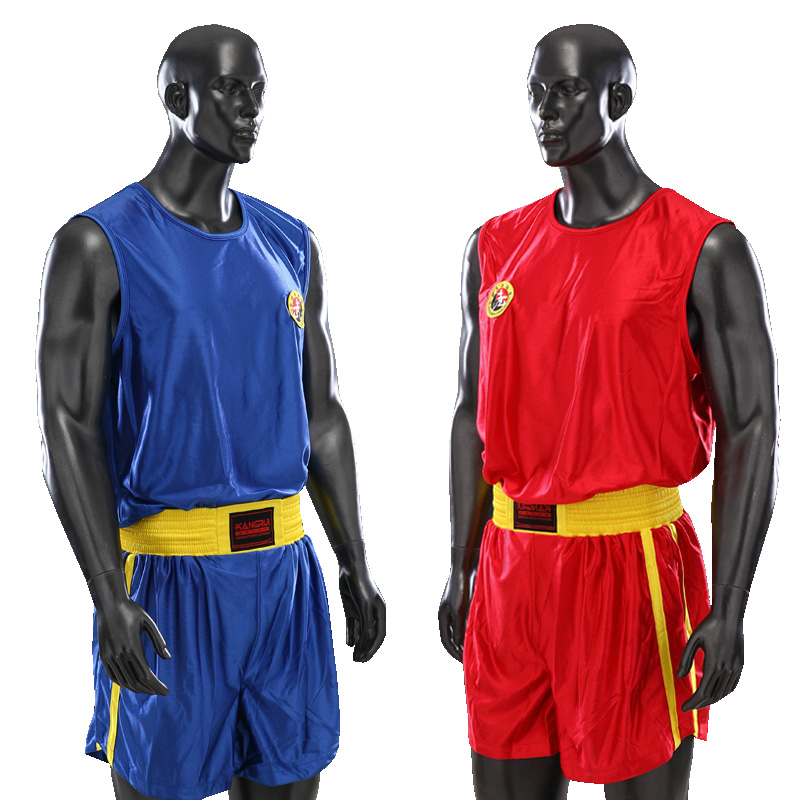 Breathable Red Blue Sanda Suits For Training And Competition MMA Muay Thai Boxing Shorts Kick Boxing Taekwondo Pants Boxing Suit