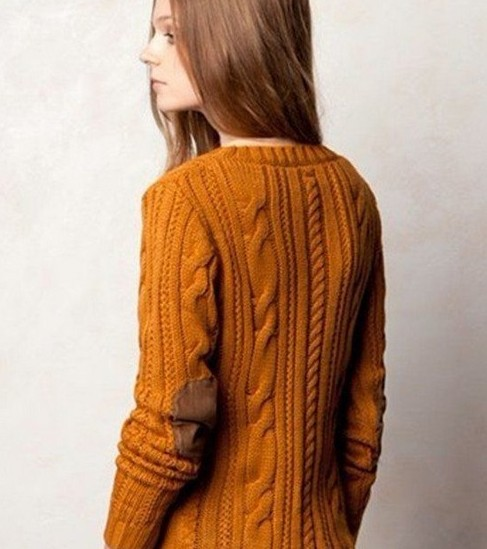 Free Shipping 2017 Autumn And Winter Women Elbow Patch Sweater