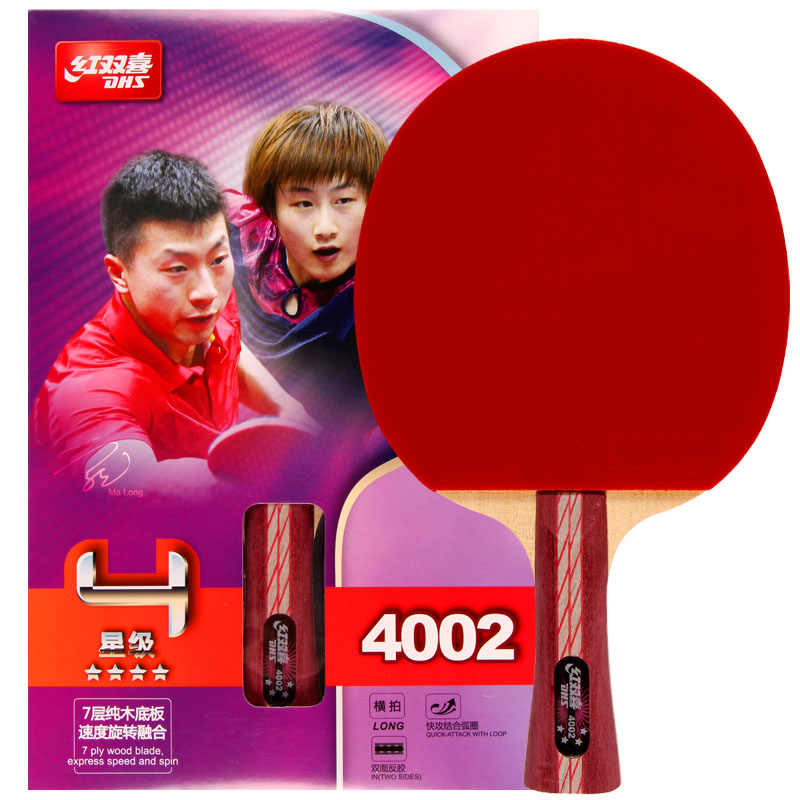 100% original DHS Table Tennis Racket 4002 400  Ping Pong Paddle Table Tennis Racquets indoo sports Raquete pure 7 layers