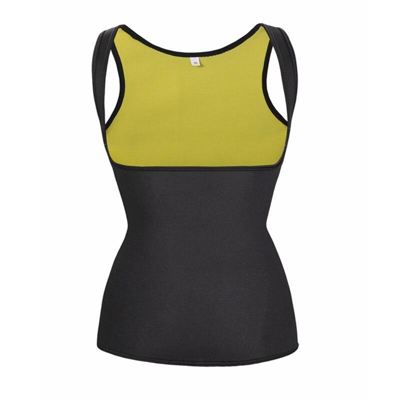 Plus Size Shapewear Neoprene Body Shaper Vest Sweat Waist Trainer Slimming Women Sauna Suit For Weight Loss