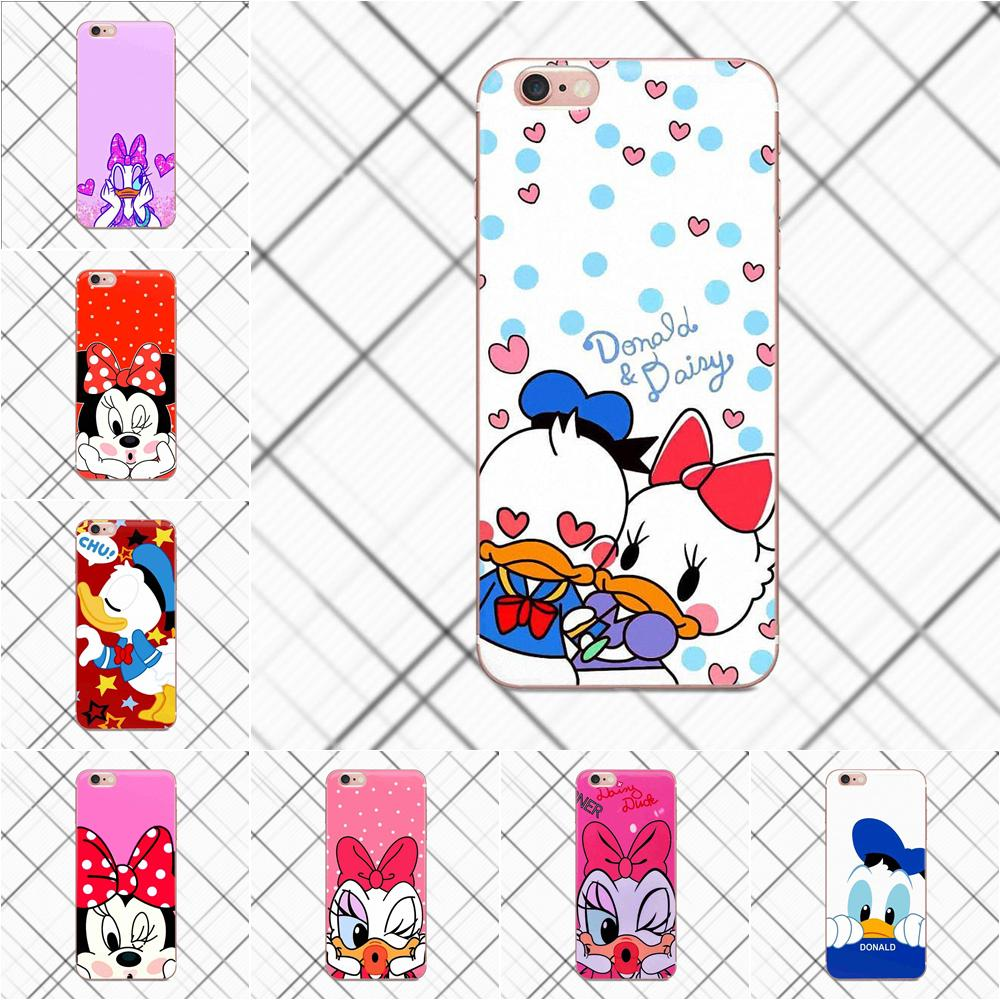 Tpwxnx Lovely Mickey Minnie Mouse Daisy Duck For Huawei G8 Honor 5C 5X 6 6X 7 8 9 Y5II Mate 9 P8 P9 P10 P20 Lite Plus 2017
