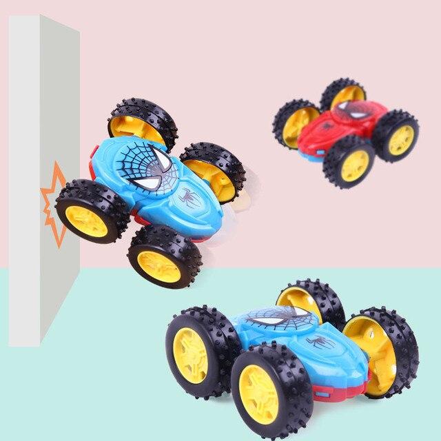 1 قطعة منتج جديد بالقصور الذاتي على الوجهين شاحنة قلابة مقاومة 360 درجة الوجه سيارات لعبة هدايا عيد الاطفال لعب للأطفال