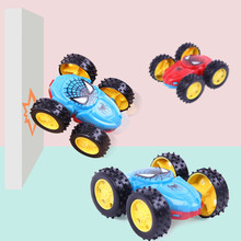 1pc novo produto inercial duplo sided caminhão basculante resistente 360 graus flip brinquedo carro presentes de aniversário crianças brinquedos para crianças