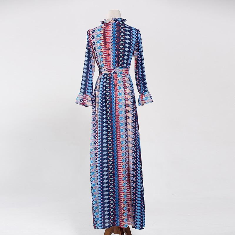 Longues Femme 2018 Piste Nouvelle Haute Magnifique M Grande xxxl Maxi Concepteur Imprimé Manches Taille Longue Mode Qualité Robe qvwxxzt