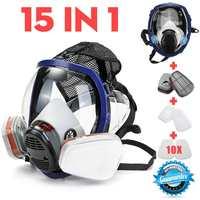 15 in 1 Volle Gesicht Gas Maske For 3M 6800 Gesicht stück Atemschutz Malerei Spritzen Maske Chemische Labor Sicherheit Maske-in Chemische Atemmasken aus Sicherheit und Schutz bei