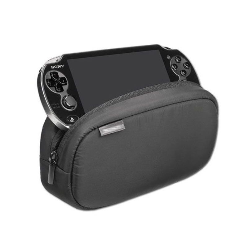 1 pcs New black Large Capacity Soft Travel Protective Case Pouch Bag for Playstation PS VITA 1000 2000 цена и фото