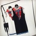 Roupas de luxo da marca das mulheres de verão estilo fashion dress bonito bainha lantejoulas bow vestidos vestidos de fiesta roupas femininos
