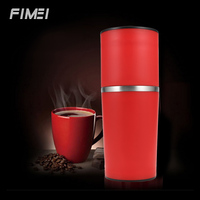 2018 New Original Multifunctional Portable Manual Coffee Grinder Stainless Steel Vacuum Mug Funnel Filter Coffee Mill Machine
