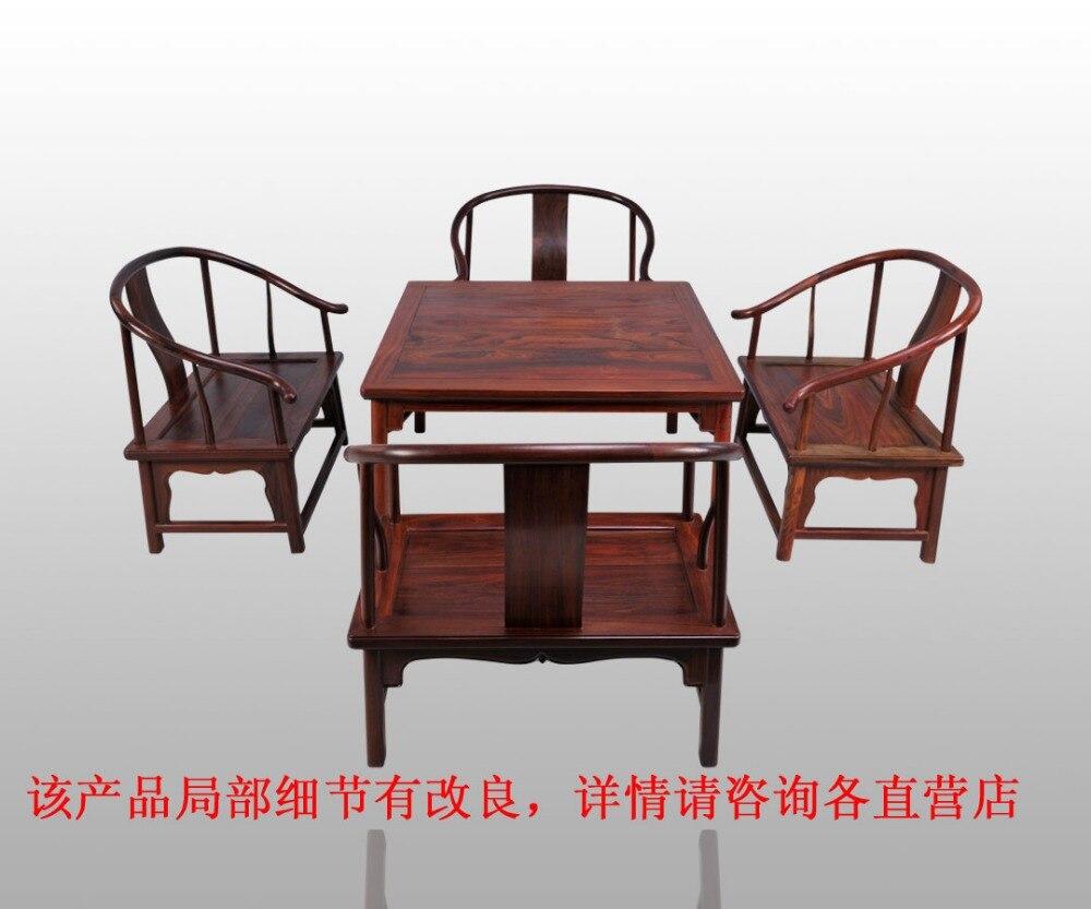 € 1238.73 5% de DESCUENTO|Mesas cuadradas con patas redondas para ocho  personas a la antigua sala de estar comedor hogar Rosewood muebles 86*86 cm  de ...