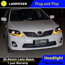 Lampever Styling for Toyota Corolla Headlights 2011-2013 Altis LED Headlight DRL Bi Xenon Lens High Low Beam Parking Fog Lamp