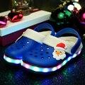 2016 LED Zapatos Kids Glowing Zapatillas Zapatos Niños Zapatos de las Zapatillas de deporte Zapatillas de Luces con Luces Luces De Navidad para Los Niños