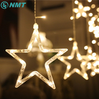 2M LED Star String Lights AC220V LED Fairy Curtain Light Christmas Wedding Garland Waterproof Outdoor Decoration