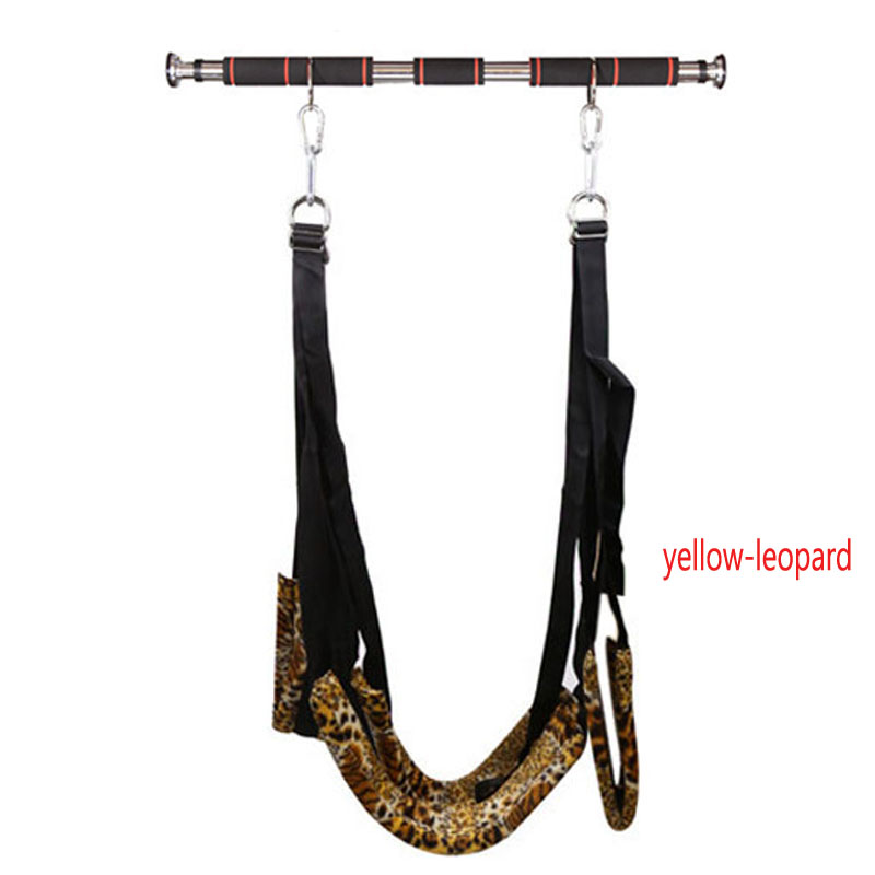 2pcs/Set(Sex Swings+Metal Pipe) Adult Love Games Bondage Restraints Slave Bdsm Sex Furniture Swing Erotic Toys For Couples couples magically joined love keychain 2 piece set