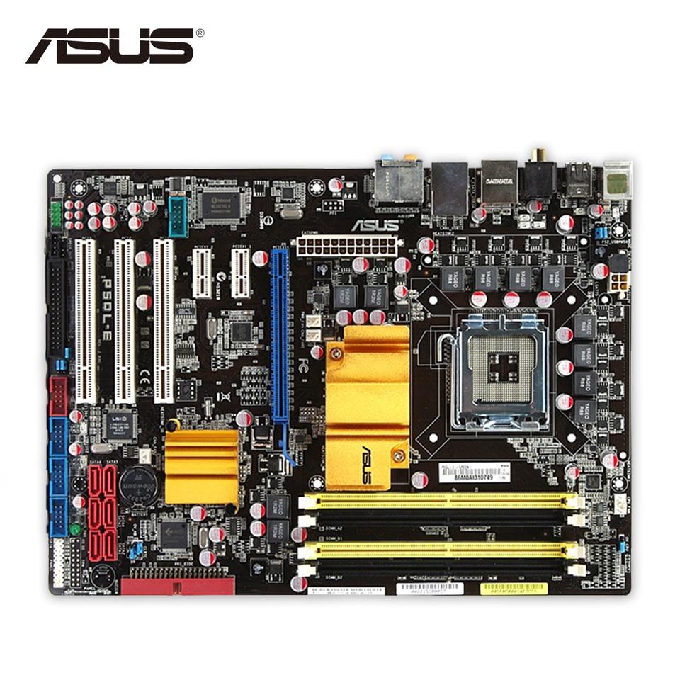 Original Used Asus P5QL-E Desktop Motherboard P43 Socket LGA 775 DDR2 16G SATA2 USB2.0 ATX On Sale 100% Fully Test asus p5kpl epu original used desktop motherboard p5kpl g31 socket lga 775 ddr2 atx on sale