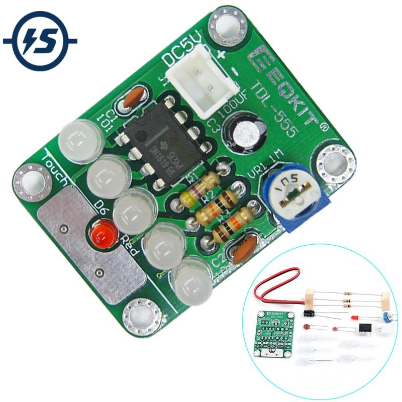 Kit de bricolage de lumière LED de retard tactile de TDL-555 Kit de LED de bricolage de Format TOR pièces de lumière cc 5V