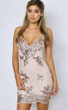2018 Summer Mini Dress Womens Sexy Gold Sequin Dress Champagne Twinkle  Sequin Overlay Dress Glitter Party e765a32e01b6