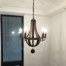 Wooden Chandelier for Coffee Shop Bedroom Kitchen Dining room suspension luminaire Vintage Loft Decor rustic chandelier Lighting