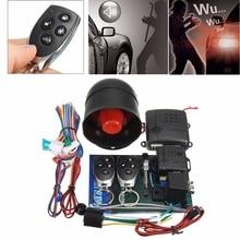 LB-100D One-Way Car Auto Remoto Kit Sistema de Alarme Programável Inteligente Fechadura Da Porta Keyless Bloqueio Central Com Controladores Remotos