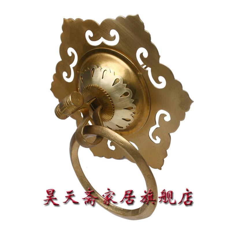 [Haotian vegetarian] antique copper door knocker handle / Antique Hardware / antique furniture copper fittings HTA-016