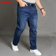 Autumn jeans men's blue large size men's jeans 200 kg male e
