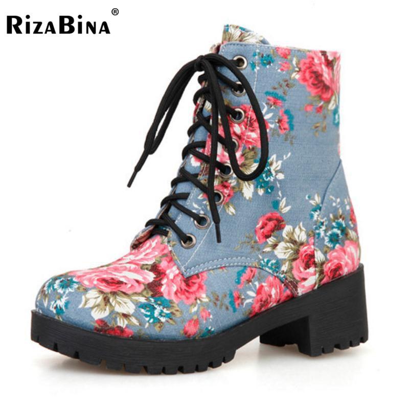 цены на RizaBina Women Knee Boots Zipper High Heel Boots Warm Shoes Women Thick Heels Boots Long Botas Sexy Women Footwears Size 34-40 в интернет-магазинах