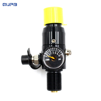 QUPB PCP Válvula Reguladora De Paintball Tanque HPA REG001 M18 * 1.5 Fio Preto|pcp paintball|paintball hpa|hpa tank regulator -