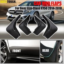 Set Molded Mud Flaps For Benz GLA180 GLA 220 GLA 200 GLA250 X156 2014 2015 2016 2017 Mudflaps Splash Guards Mudguards Front Rear