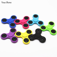 100Pcs Lot Fidget Spinner Finger ABS EDC Hand Tri Spinner For Kids Autism ADHD Anxiety Stres