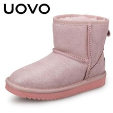 UOVO Brand boots Children's shoes Boots Boys Girls Winter Snow Boots High Quality fashion UOVO boots plush sneakers size 28-35