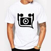 Music Punk Symbol Printed Men T Shirt Skate White Swag Clothes Skateboard Clothing Cool Guy Big