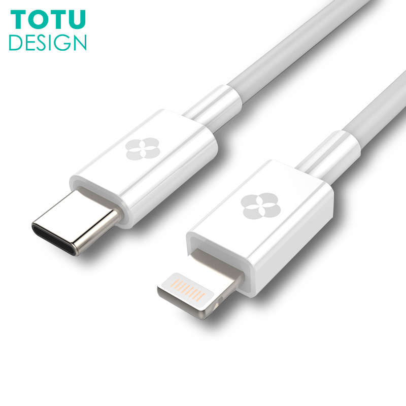 TOTU Type C to 8 Pin Phone Cable For iPhone X 8 7 Plus Macbook 2.4A Fast Charger USB-C to For iPhone Type-C Charging OTG Cable