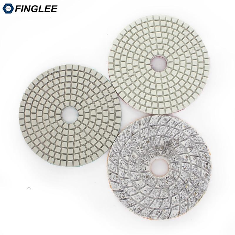 FINGLEE 4 cale 100 mm 3 stopnie na mokro Diamentowe podkładki - Elektronarzędzia - Zdjęcie 2