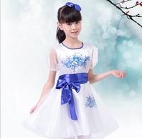 Moderator Chorus Flower Girl Dresses Veil Dress, Children ' S Performance Clothing, Stage Costumes