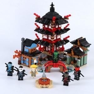Image 3 - 2019 חדש creative ninjaly מקדש הדרקון פעולה תואם עם Legoings בניין צעצוע ninja עירוני בריק צעצוע לילדים מתנה