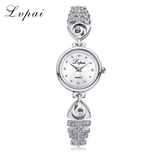 Lvpai Fashion Bracelet Watch Women Dense Scale Diamond Dial Luxury Silver Steel Chain Quartz Ladies Watches Relojes De Mujer