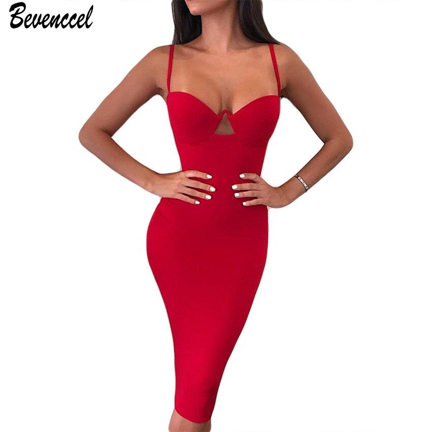 Женское облегающее платье без рукавов, черное или красное вечернее платье знаменитости, лето 2019