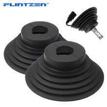 Flintzen 2 個ユニバーサル LED HID キセノンヘッドライトキット車防塵ダストシールのための Motorcycel ライトランプ H1 h3 H4 H7 H11
