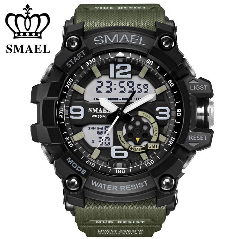 Digitala Vakt Män Armé Sport Watch Vattentålig Datum Kalender LED Elektronik Klockor relogio masculino montre homme