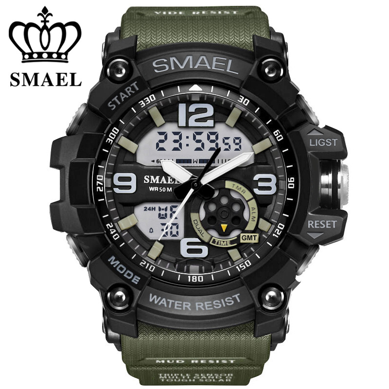 Digital Watch Men Military Army Sport Watch Water Resistant Date Calendar <font><b>LED</b></font> <font><b>Electronics</b></font> Watches relogio masculino montre homme
