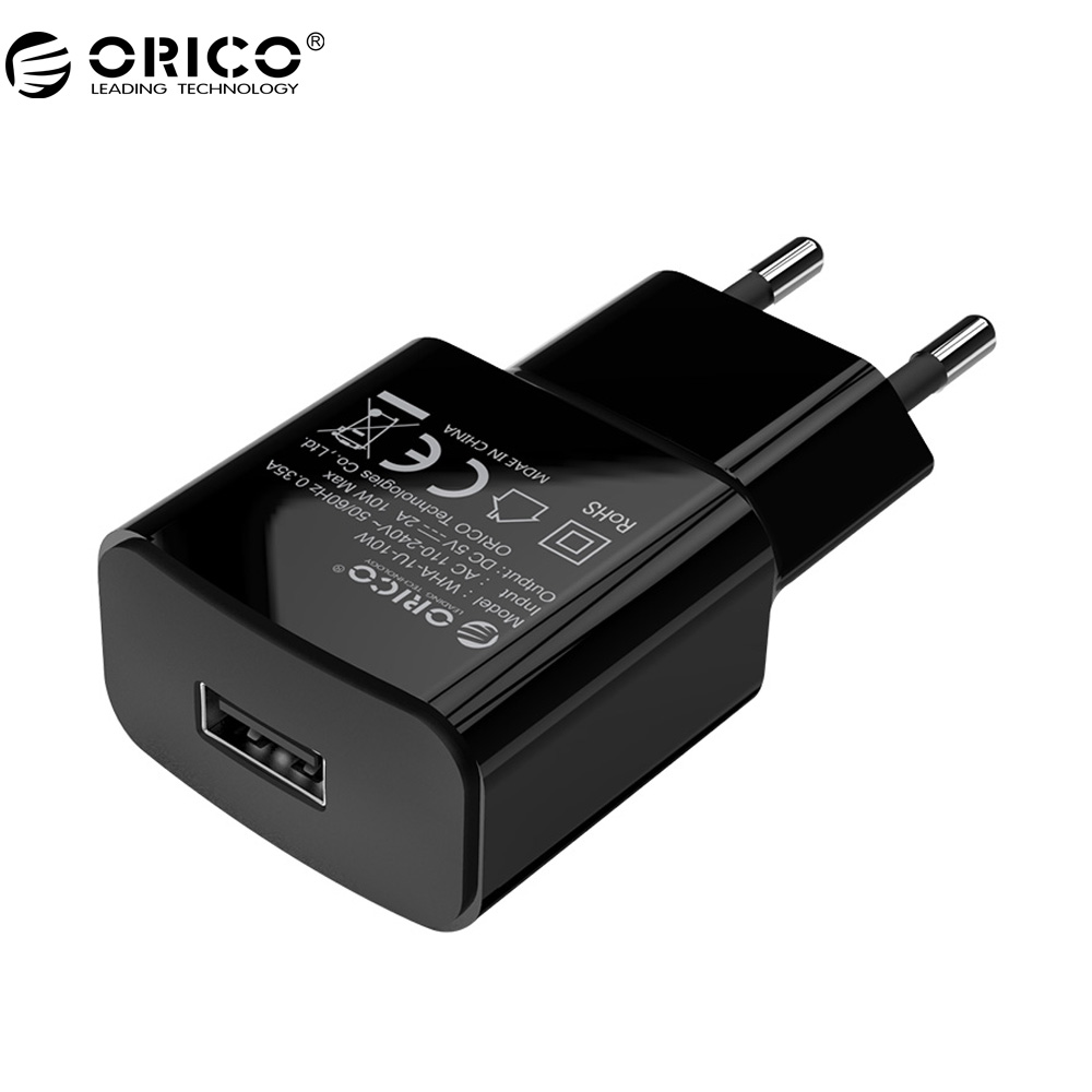 ORICO WHA 5V2A 5V1A USB Charger Portable EU Plug Travel Wall Charger Adapter 5W 10W Smart Mobile Phone Charger