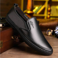 brand new super soft leather men loafers shoes Genuine leather silp on Middle aged men Loafers Driving Shoes for dad AA 69