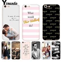 Yinuoda Gossip Girl Blair Chuck Bass Coque Shell Phone Case for iPhone 8 7 6 6S Plus X 10 5S SE XS MAX XR11 11pro 11promax