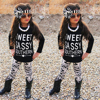 Autumn Winter Newborn Toddler Kids long sleeve set Baby Girls Outfits Clothes letters T-shirt Tops+Floral Pants 2PCS Set newborn baby kids boys tops cool letter printing i do what i want sleeveless t shirt vest short pants 2pcs outfits set clothes