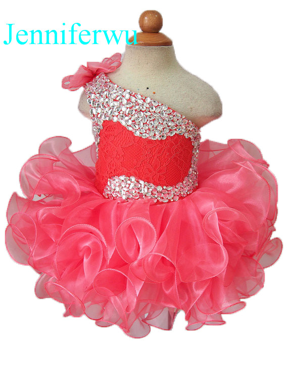цена stone beaded  infant and toddler girl pageant dress party dress 1T-6T G095-8 онлайн в 2017 году